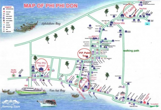 Map of  P.P.  Palm Tree Resort
